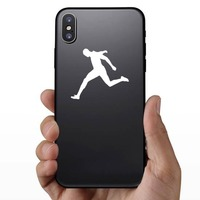 Man Sprinting to the Finish Line Sticker on a Phone example