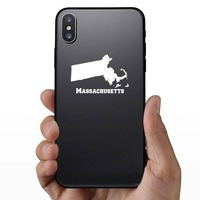 Massachusetts State Sticker on a Phone example