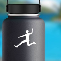Men's Long Jump Sticker on a Water Bottle example