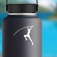 Men's Pole Vaulter Sticker on a Water Bottle example