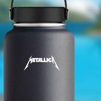 Metallica Sticker on a Water Bottle example