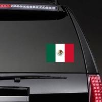 Mexico Flag Sticker on a Rear Car Window example