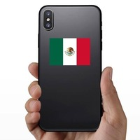 Mexico Flag Sticker on a Phone example