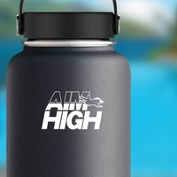 Military Air Force Aim High Sticker on a Water Bottle example
