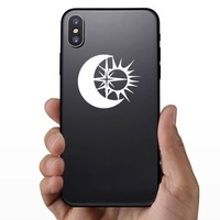 Moon Sun And Star Sticker on a Phone example