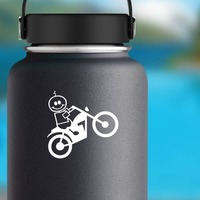 Motorcycle Baby Boy Family Sticker on a Water Bottle example