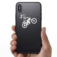 Motorcycle Mom Family Sticker on a Phone example