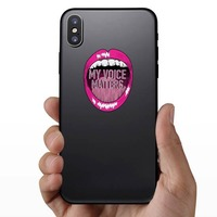 My Voice Matters Sticker on a Phone example