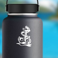 Navy Anchor Sticker on a Water Bottle example