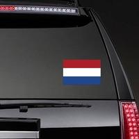 Netherlands Flag Sticker on a Rear Car Window example