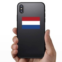 Netherlands Flag Sticker on a Phone example