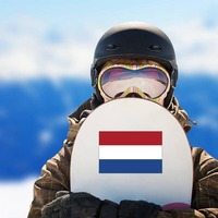 Netherlands Flag Sticker on a Snowboard example