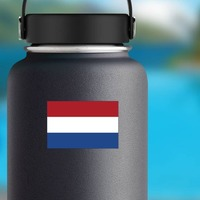 Netherlands Flag Sticker on a Water Bottle example