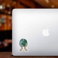 No Planet B Sticker on a Laptop example