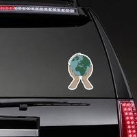 No Planet B Sticker on a Rear Car Window example