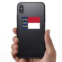 North Carolina Nc State Flag Sticker on a Phone example