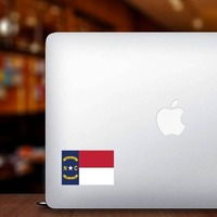 North Carolina Nc State Flag Sticker on a Laptop example