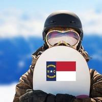 North Carolina Nc State Flag Sticker on a Snowboard example