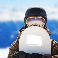 North Dakota State Sticker on a Snowboard example