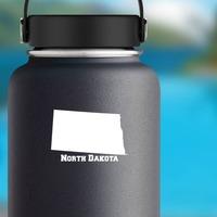 North Dakota State Sticker on a Water Bottle example