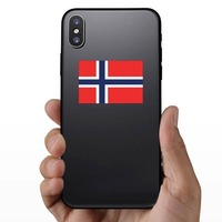 Norway Flag Sticker on a Phone example