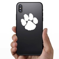 One Paw Print Sticker on a Phone example
