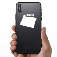 Oregon State Sticker on a Phone example