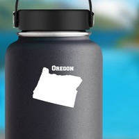 Oregon State Sticker on a Water Bottle example