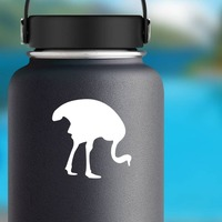 Ostrich Eating Sticker on a Water Bottle example