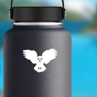Owl Bird Flying Sticker on a Water Bottle example
