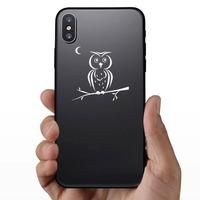 Owl-Bird On A Limb Sticker on a Phone example