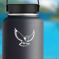 Owl Bird Sticker on a Water Bottle example