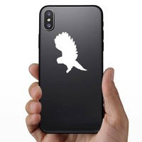 Owl Flying Sticker on a Phone example