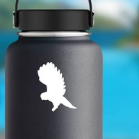 Owl Flying Sticker on a Water Bottle example