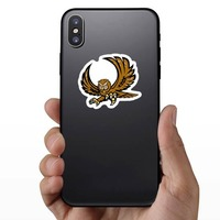Owl Mascot Sticker on a Phone example