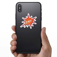 Paff Comic Sticker on a Phone example