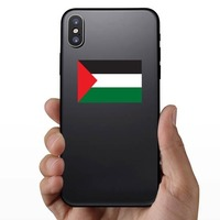 Palestine Flag Sticker on a Phone example