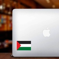 Palestine Flag Sticker on a Laptop example
