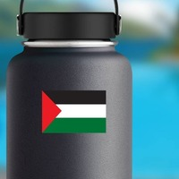 Palestine Flag Sticker on a Water Bottle example