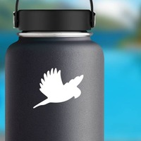Parakeet Flying Sticker on a Water Bottle example