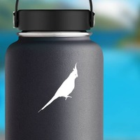 Parakeet Sticker on a Water Bottle example