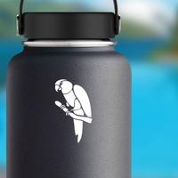 Parrot Bird On Limb Sticker on a Water Bottle example