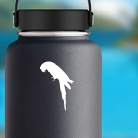 Parrot Bird Sticker on a Water Bottle example