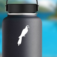 Parrot Sticker on a Water Bottle example