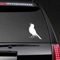Partridge Chirping Sticker on a Rear Car Window example