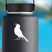 Partridge Chirping Sticker on a Water Bottle example