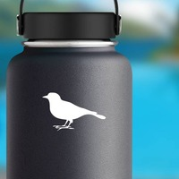 Partridge Sticker on a Water Bottle example