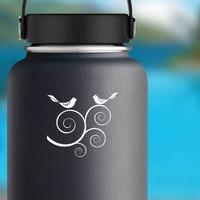 Partridge's In A Tree Sticker on a Water Bottle example