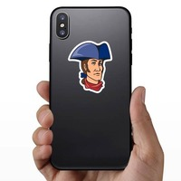 Patriot Mascot Sticker on a Phone example
