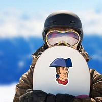 Patriot Mascot Sticker on a Snowboard example